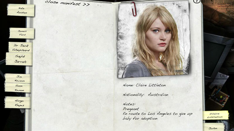 Lost character profiles